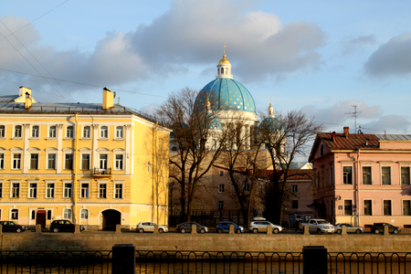 Photo views of St. Petersburg on the canal embankment