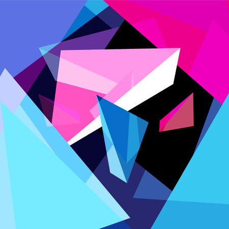 Abstract multicolored geometric trendy background with different elements