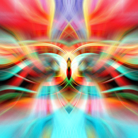 Abstract multicolored glowing bright background with fantastic elements Stock fotó - 122610324