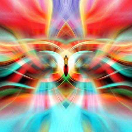 Fondo brillante brillante multicolor abstracto con elementos fantásticos Foto de archivo
