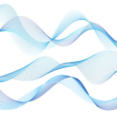 Blaue Welle des feinen Vektors auf weißem Hintergrund isolieren