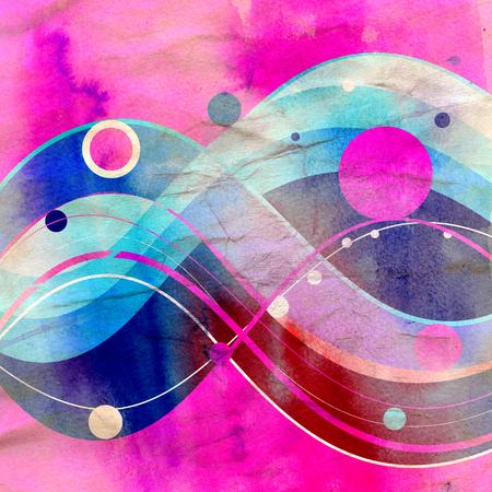 Fondo de color ornamento abstracto con elementos ondulados