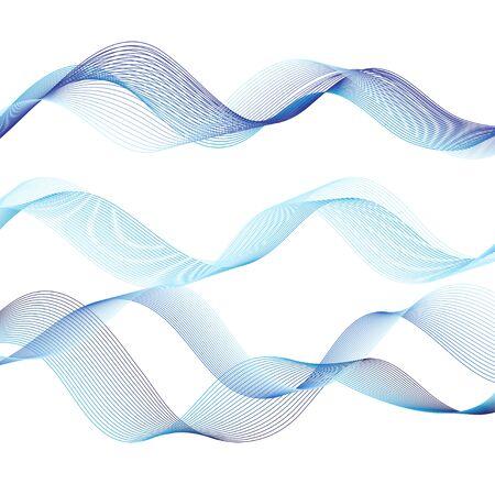 Isolare bene l'onda blu di vettore su fondo bianco white Vettoriali