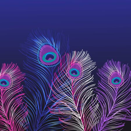 Beautiful background of multi-colored peacock feathers. Template for different design