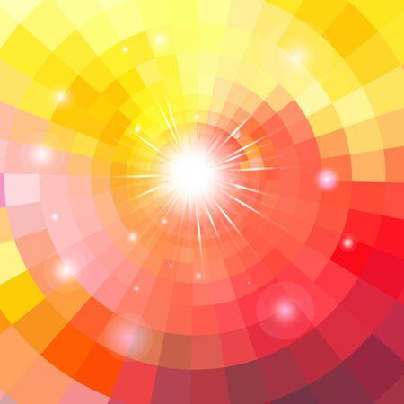 Fondo degradado multicolor brillante con luminarias