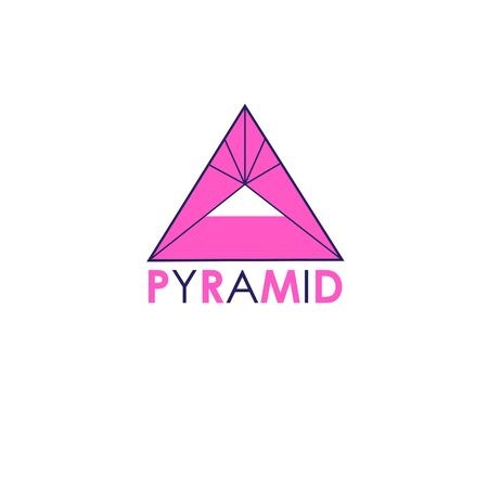 Vector sign pyramid Egypt isolated on white background. Example for business card, flyer or web page.