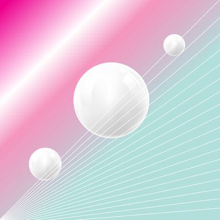 Fantastic color vector background of the future with planets. Design template for web page, poster or poster.