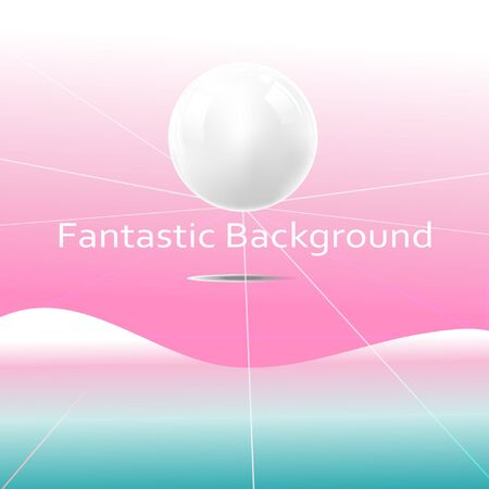 Bright Fantastic super vector background with planets. Ilustrace