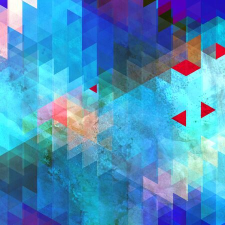Abstract bright multicolored geometric background with different elements. Template for the design of different polygons for the poster. wallpaper or web page.