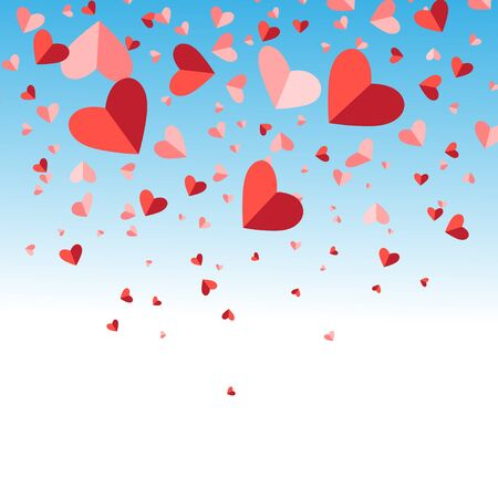 Festive bright vector background for Valentines Day
