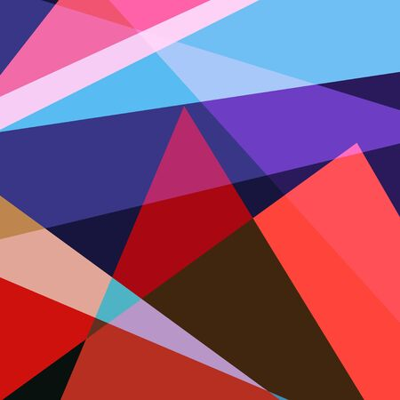 Abstract beautiful vector background of geometric different objects. Template for design of business card, postcard, poster or web page.