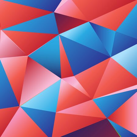 Beautiful color vector from geometric polygons