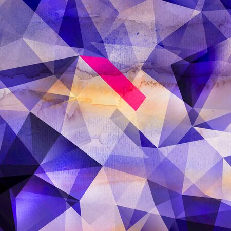 Abstract watercolor beautiful linear wave graphics over dark background