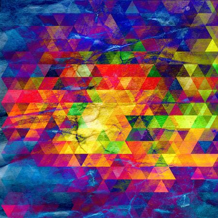 Watercolor retro color abstract geometric background. An example for the design of posters postcards Stock fotó