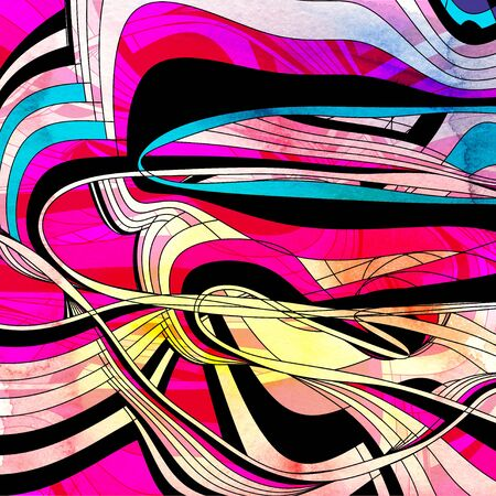 Beautiful colorful abstract watercolor wave background with different shades