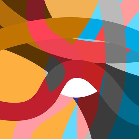Abstract geometric multicolored background with bright elements.