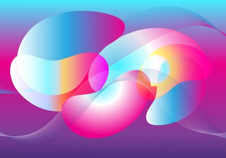 Abstract transparent background with different elements