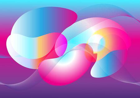 Abstrakter transparenter Hintergrund mit verschiedenen Elementen