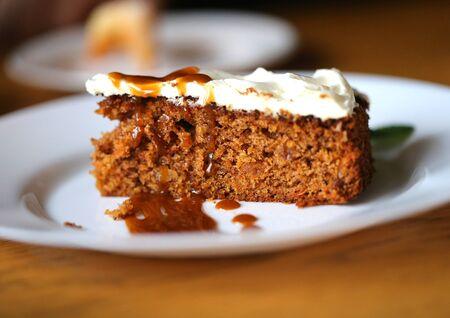 Photo macro of a delicious sweet piece of dessert in a restaurant Archivio Fotografico - 133297966