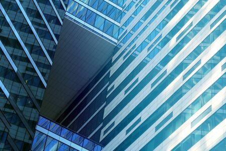 Photo macro glass modern architectural fragments of buildings