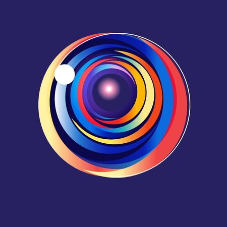 Lovely vector multicolored abstract round element on blue background