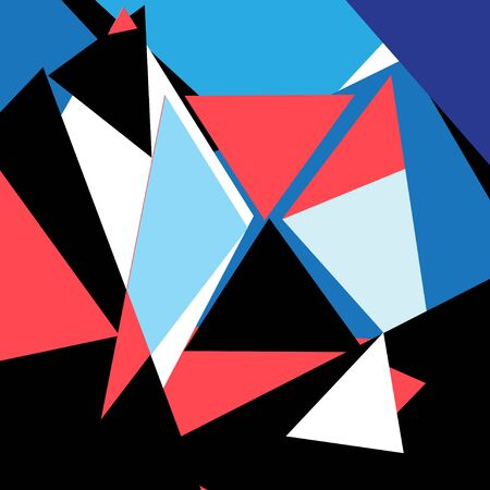 Lovely vector multicolored abstract geometric shapes triangles