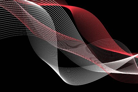 Abstract beautiful vector background with different waves and lines. Template for poster or web page design. Illusztráció
