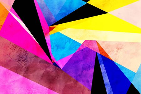 Abstract retro watercolor background made of geometric shapes