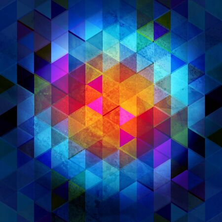 Beautiful watercolor unusual background of colored geometric polygons. Template for a web page or poster design.