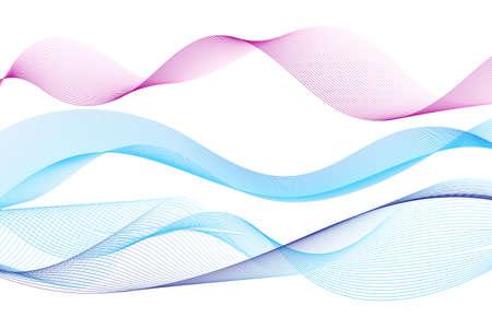 Illustration of blue wave lines