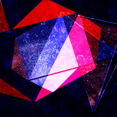 Abstract retro raster color background with geometric objects