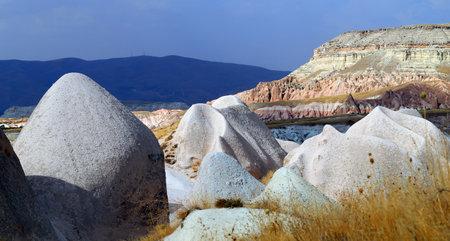 Photo bright beautiful mountains in Cappadocia