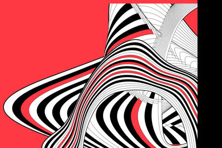 Abstract linear vector background with waves and stripes