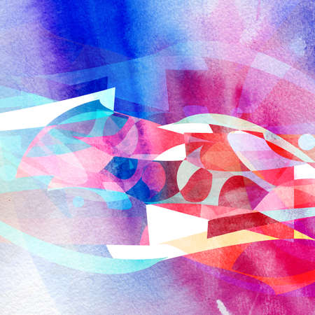 Abstract dynamic watercolor background with waves and lines Banco de Imagens