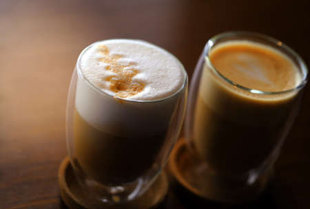 Photos of delicious coffee and latte
