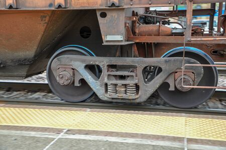 Steel train wheel group