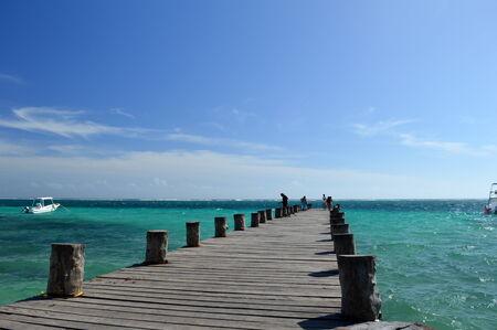 acu: Pier in the Caribbean Sea