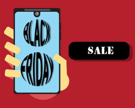 Black Friday Sale banner. Design for black Friday sale.