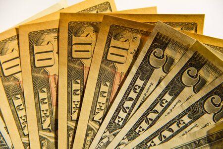 fanned: dollar bills  fanned