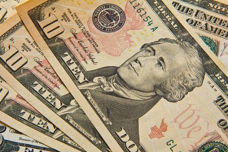 Ten dollar bills photo