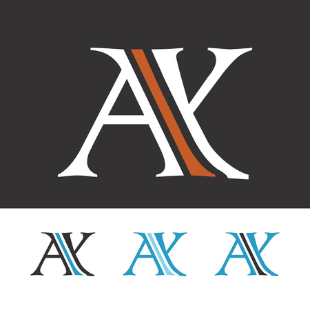 A and Y initial letters creative design template