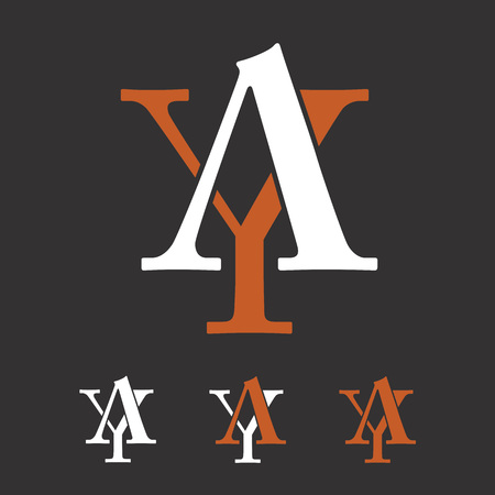 A and Y initial letters creative   template