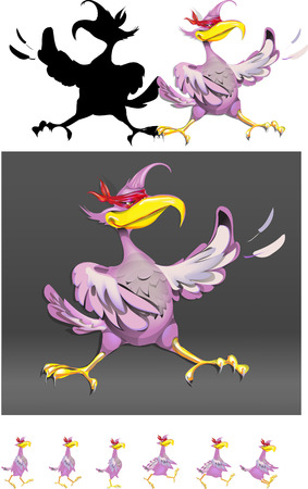 traits: bird superman hero violet vector