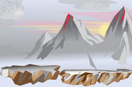 snowcapped mountain: mountain vector