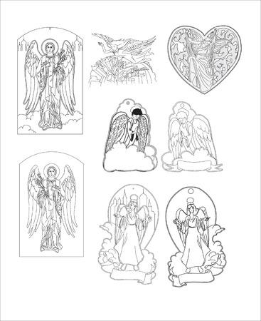 vector angel Illustration
