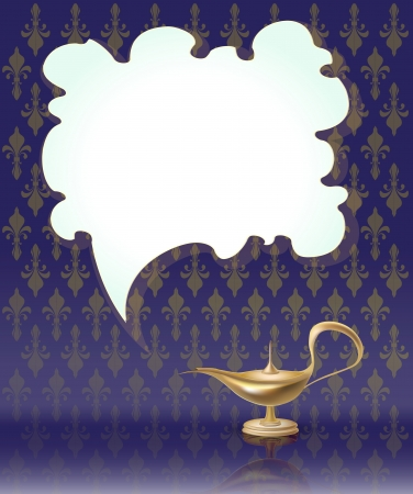 magic lamp: lamp magic vector Illustration