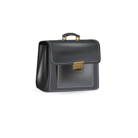briefcase, leather Vector