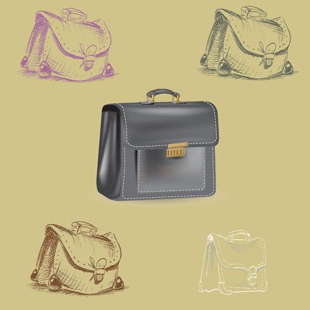 no way: briefcase, leather