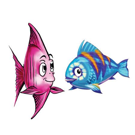 goldfish jump: fish cartoon