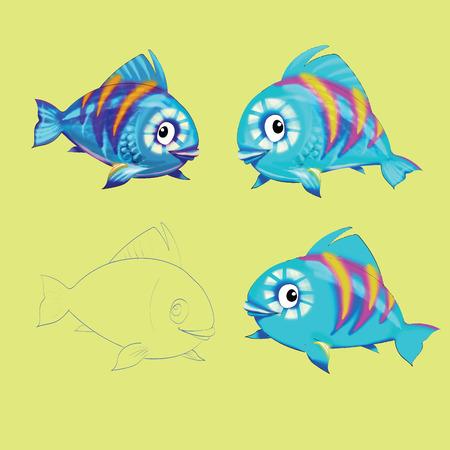 goldfish jump: Fish funny